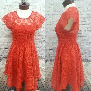Maeve (Anthropologie) Orange Lace Dress